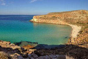 Rabbit-Beach,-Lampedusa,-Italy