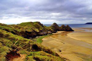 Rhossili-Bay,-Swansea,-Wales