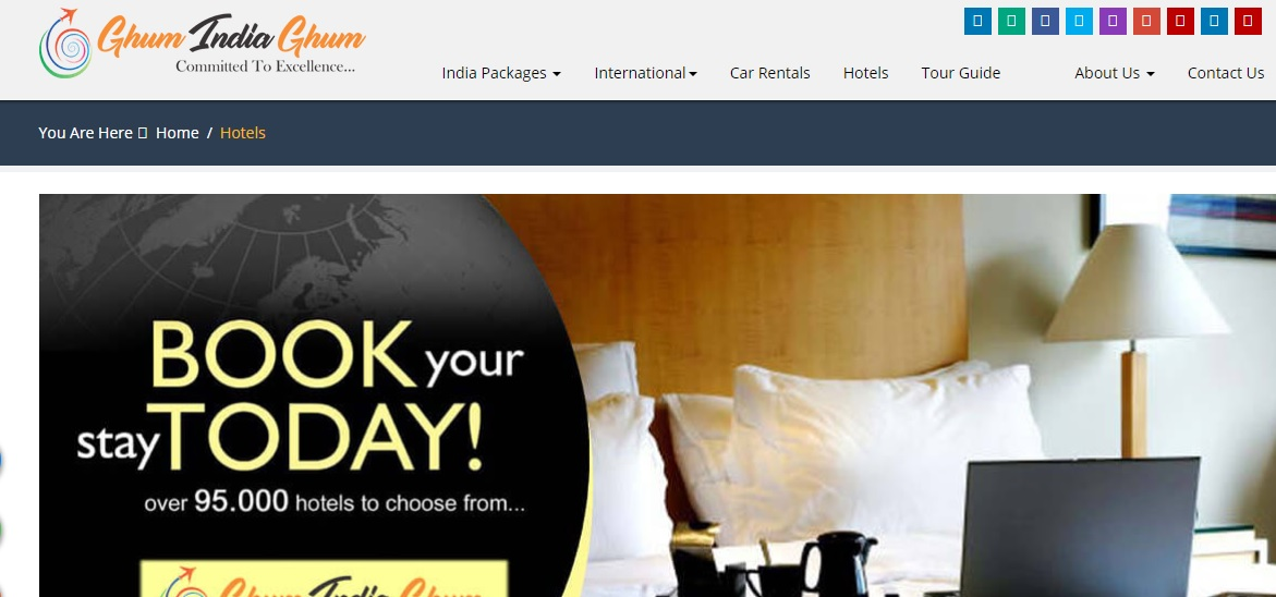 Book Your Hotels by Ghum India Ghum