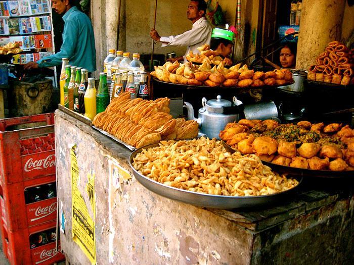 Try the street food in Varanasi